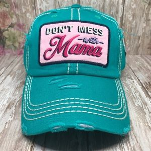 """""""Don't Mess With Mama"""" Washed Vintage Style Cap"""